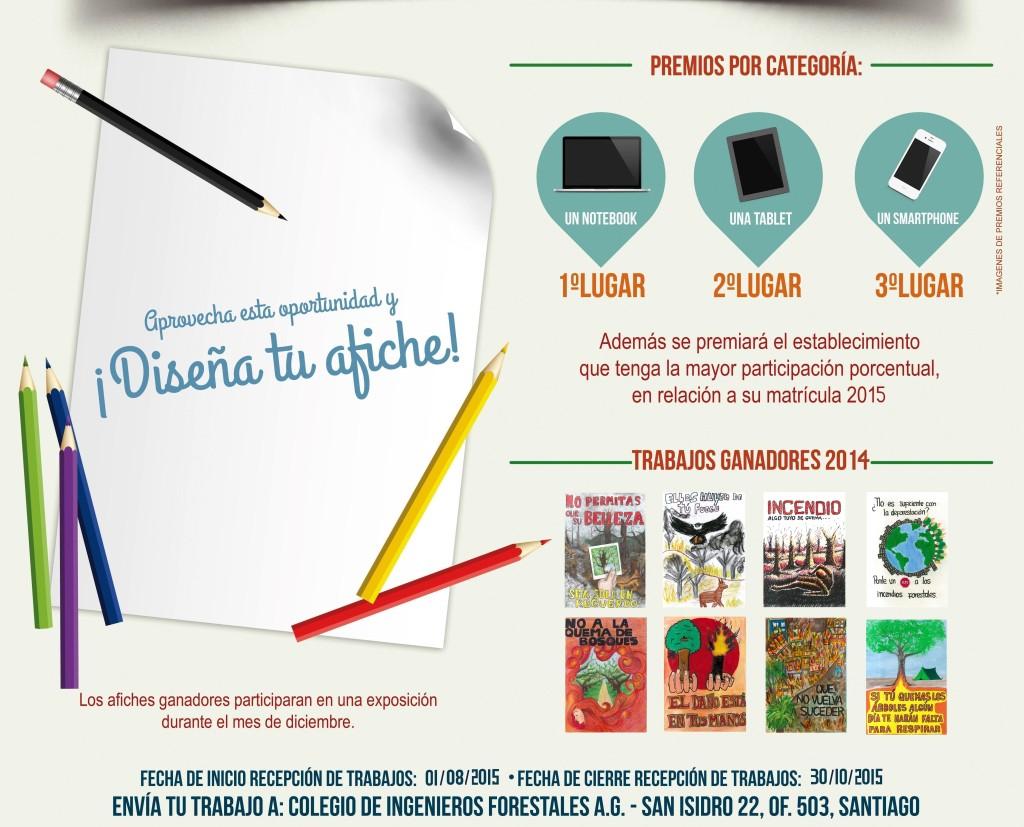 """Concurso de afiches 2015 """"Vivamos sin incendios Forestales"""""""