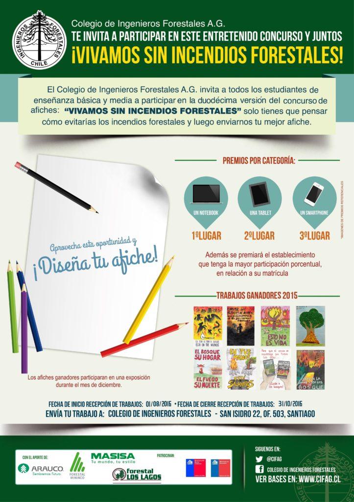 """XII Concurso Escolar de Afiches """"Vivamos sin Incendios Forestales"""""""