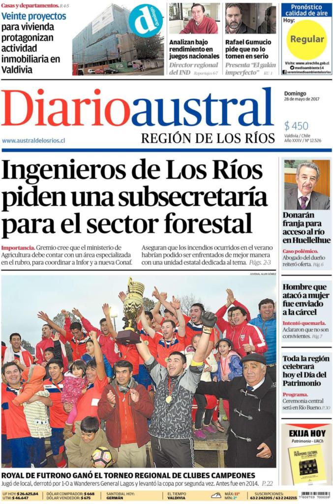 Ingenieros Forestales de Los Ríos piden una subsecretaría para el sector forestal