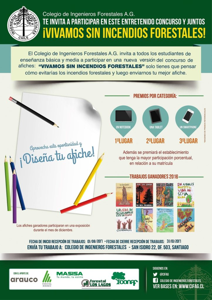 """Resultados Concurso Escolar de Afiches """"Vivamos sin Incendios Forestales"""""""
