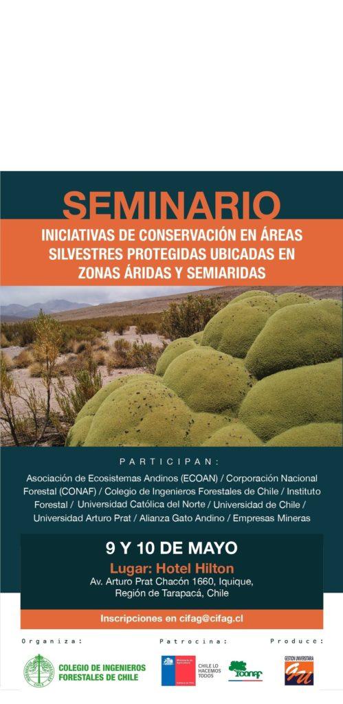 Seminario de Conservación en zonas áridas y semiáridas. 9 y 10 de mayo.